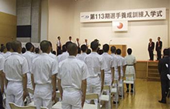 ボートレーサー養成学校の入学式