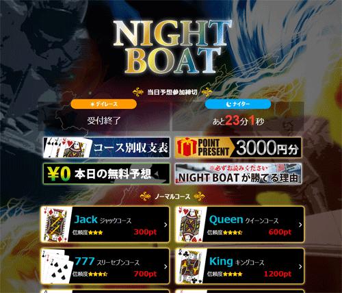 ナイトボートのログイン画面1